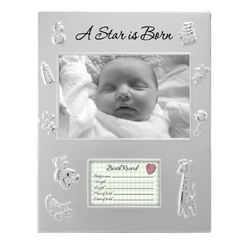 Malden International Designs A Star is Born Juvenile Picture Frame, 4x6, Silver