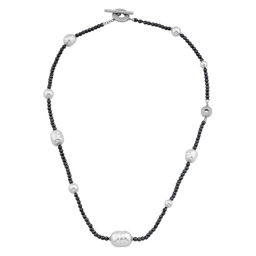Simulated Pearl Toggle Necklace, 18