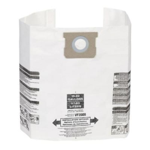 Multi-Fit Dust Bag Filter for 12 Gal. to 22 Gal. Shop-Vac and Genie Wet/Dry Vacs (3-Pack)