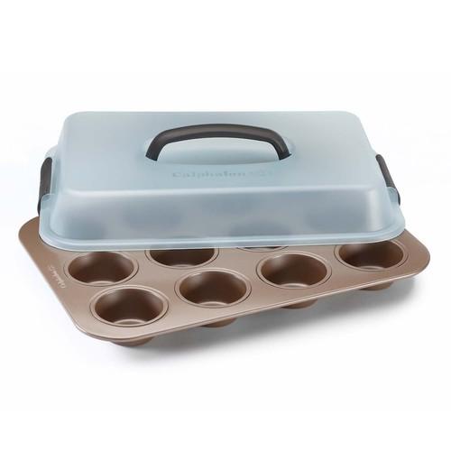 Calphalon Nonstick 12-Cup Covered Cupcake Pan