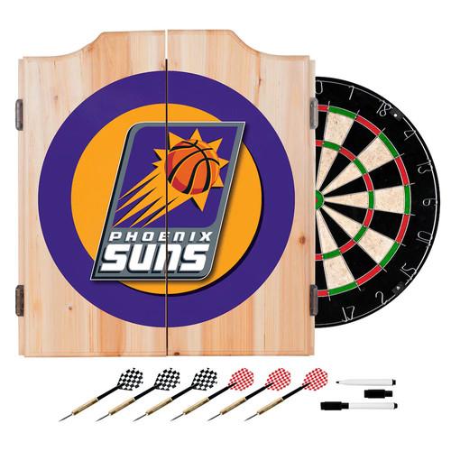 Phoenix Suns NBA Wood Dart Cabinet Set