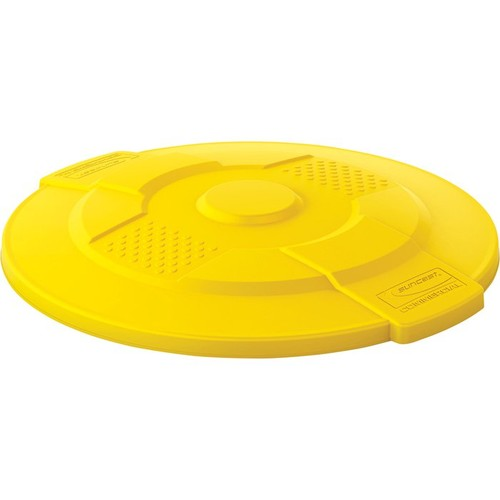 Suncast 44-Gallon Utility Trash Can Lid  Yellow,
