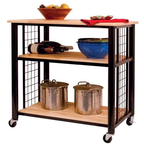 Catskill Craftsmen Contemporary Black Kitchen Cart