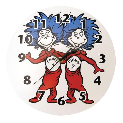 Trend Lab Dr. Seuss Thing 1 & Thing 2 Wall Clock