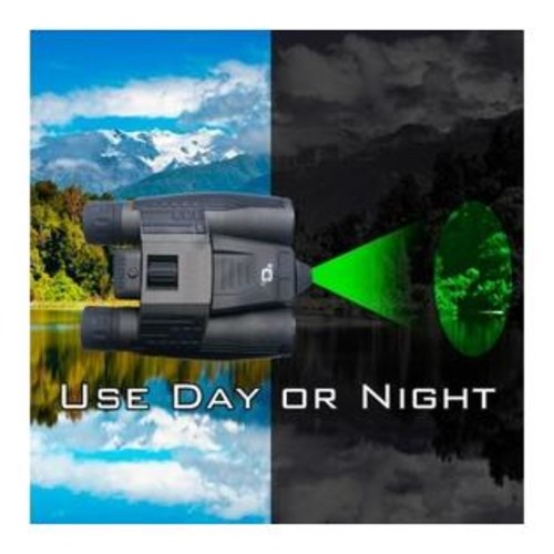 Cassini 10x32mm Day/Night Green Laser Roof Prism Binocular and Case,Black K-9MKI