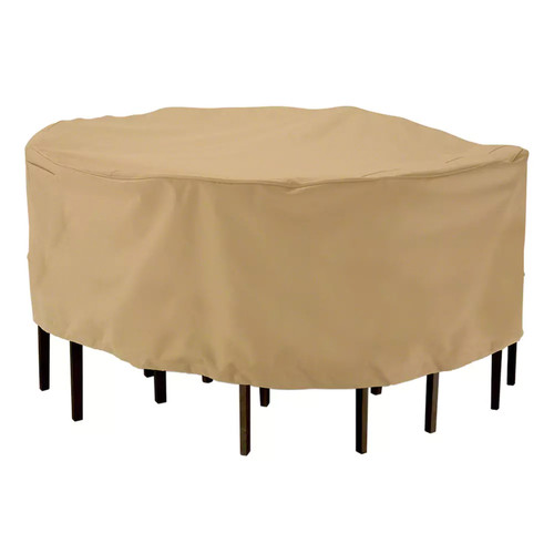 Classic Accessories Terrazzo Round Table and Chair Cover Set - Outdoor