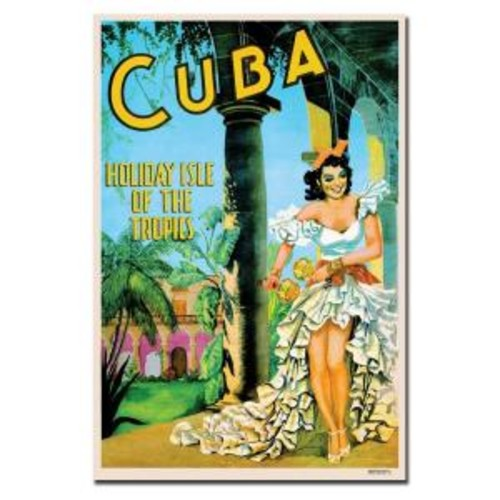 Trademark Fine Art 22 in. x 32 in. Cuba Holiday Isle Canvas Art