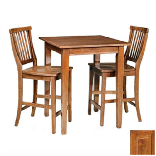 Home Styles Arts & Crafts Cottage Oak 3-Piece Dining Set with Counter Height Table