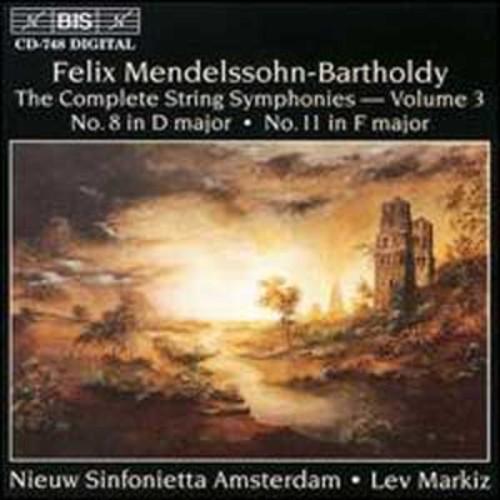 Mendelssohn: Complete String Symphonies, Vol.3 By Lev Markiz (Audio CD)