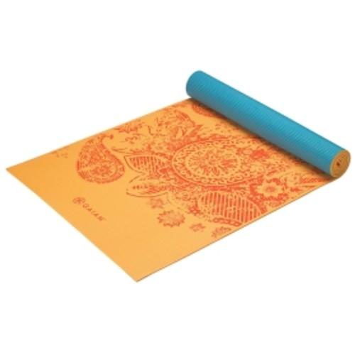 Gaiam 5mm Printed Reversible Yoga Mat