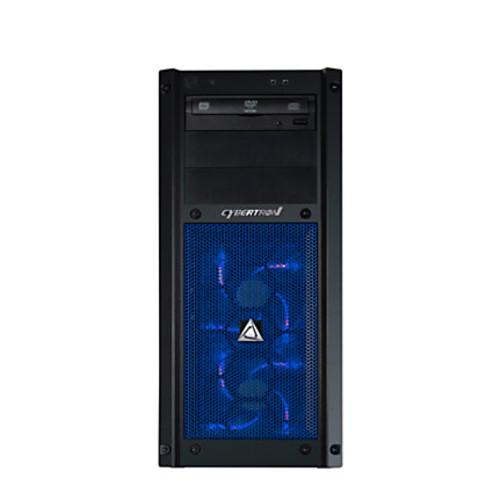 CybertronPC Steel B-1080X Desktop PC, Intel Core i7, 16GB Memory, 2TB Hard Drive/240GB Solid State Drive, Windows 10, Blue