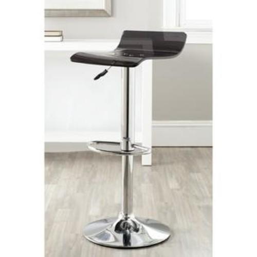 Safavieh Yance Black Adjustable 23-31.5-inch Swivel Bar Stool