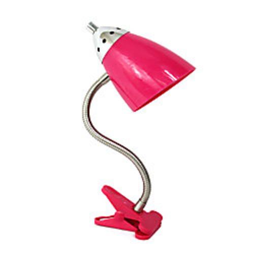 LimeLights Flossy Flexible Gooseneck Clip Desk Lamp, 40W, Pink