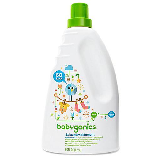 Babyganics 60 oz. Fragrance-Free 3x Laundry Detergent