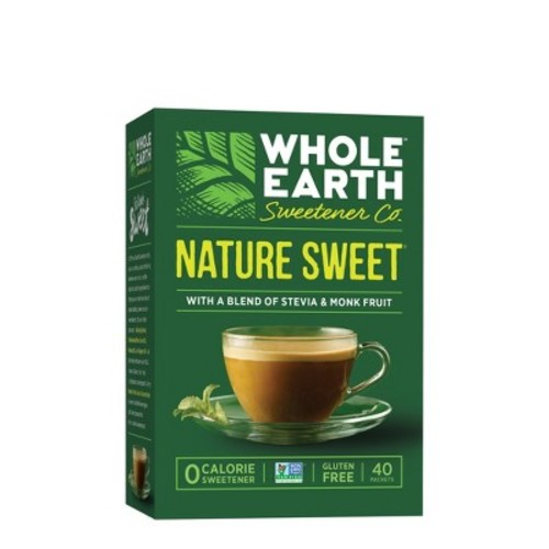 Whole Earth Nature Sweet with Stevia & Monk Fruit Sachets - 40ct
