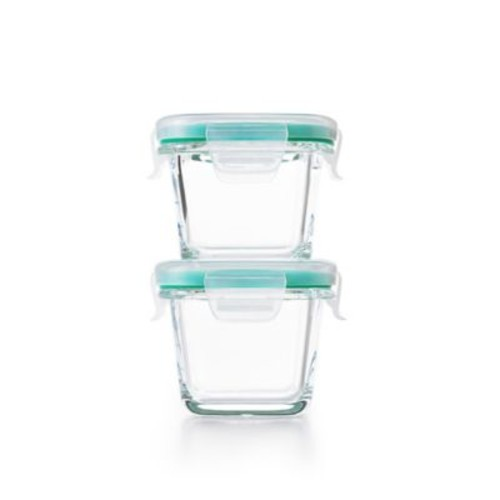 OXO Good Grips Smart Seal 4-Piece Square Glass Food Storage Set