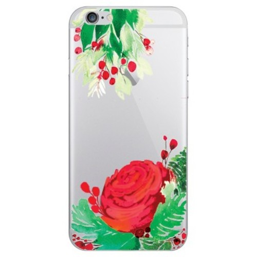 iPhone 6/6S/7/8 Case Plus Hybrid Winter Flowers Clear - OTM Essentials