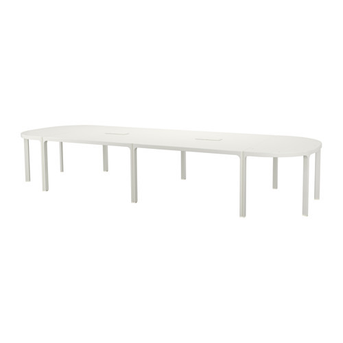 BEKANT Conference table, white, black