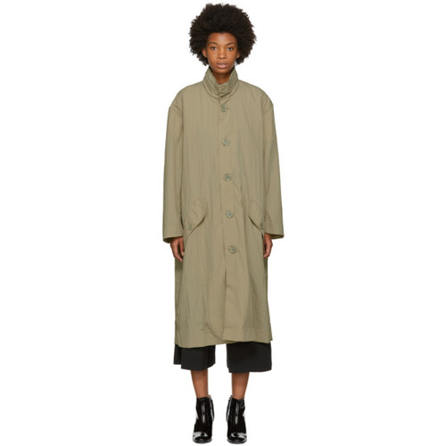 OPENING CEREMONY Beige Nylon Trench Coat