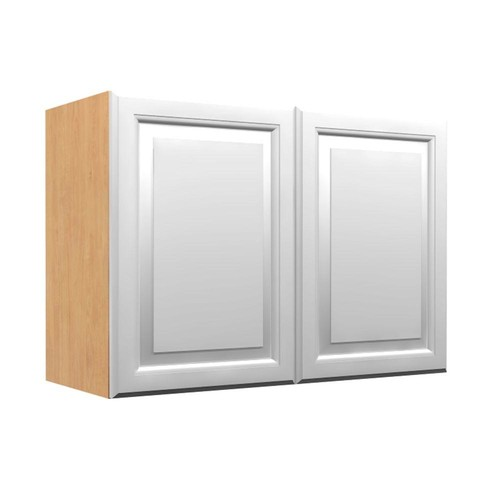 Home Decorators Collection Ready to Assemble 36x21x12 in. Anzio Wall Cabinet with 2 Soft Close Doors in Polar White