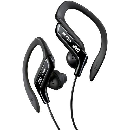 JVC Kenwood HA-EB75B Ear Clip Headphones for Sports - Black