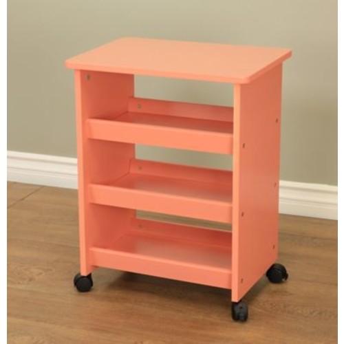 Mega Home All purpose Rolling End Table; Orange