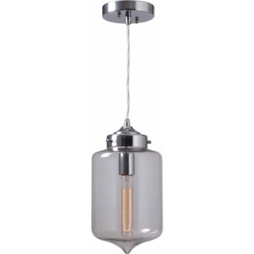 Kenroy Home Casey 1-Light Pendant, Chrome