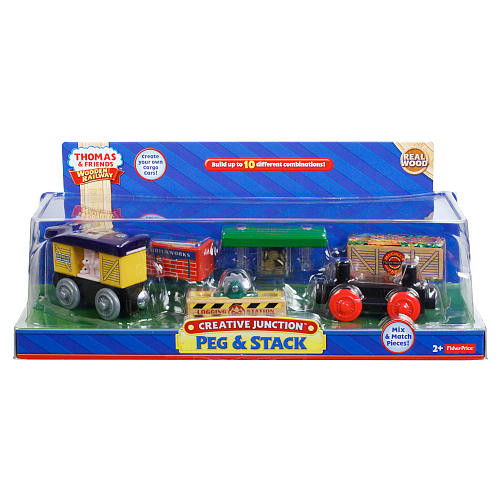 Fisher-Price Thomas & Friends Wooden Railway Creative Junction Peg & Stack
