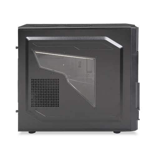 Thermaltake Commander MS-I Mid Tower ATX Gaming Computer Case VN400A1W2N Black [Full Black/Metal Mesh]