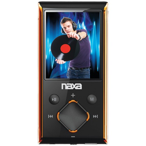 Naxa NMV-173 Portable Media Player with 1.8-Inch LCD Screen, Built-in 4GB Flash Memory and SD Card Slot