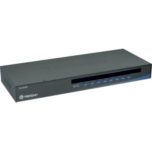 TRENDnet 8-Port USB/PS2 Rack Mount KVM Switch, VGA & USB Connection, Supports USB & PS/2, Device Monitoring, Auto Scan, Audible Feedback, Control up to 8 Computers/Servers, TK-803R [VGA USB/PS2]