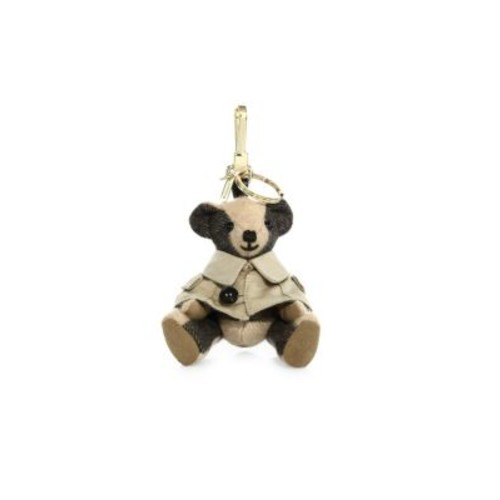 BURBERRY Thomas Trench Coat Cashmere Bear Keychain