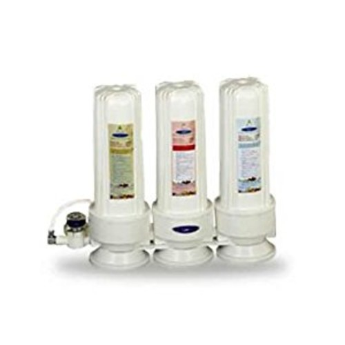CRYSTAL QUEST Countertop Replaceable Triple Multi PLUS Water Filter System
