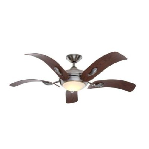 Home Decorators Collection Cassaro II 52 in. Indoor Brushed Nickel Ceiling Fan with Light Kit and Remote Control