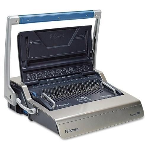 Fellowes 5218201 Galaxy 500 Manual Comb Binding System, 500 Sheets, 20 7/8 x 17 3/4 x 6 1/2, Gray [Galaxy]