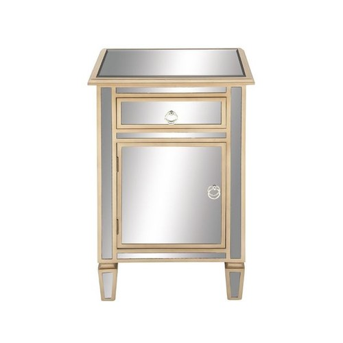 Surprising Wood Mirror Side Cabinet