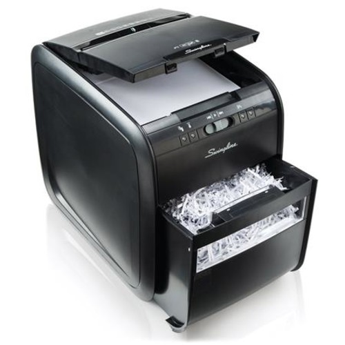 Swingline Stack-and-Shred 80X Hands Free Shredder, Cross-Cut, 80 Sheets, 1 User
