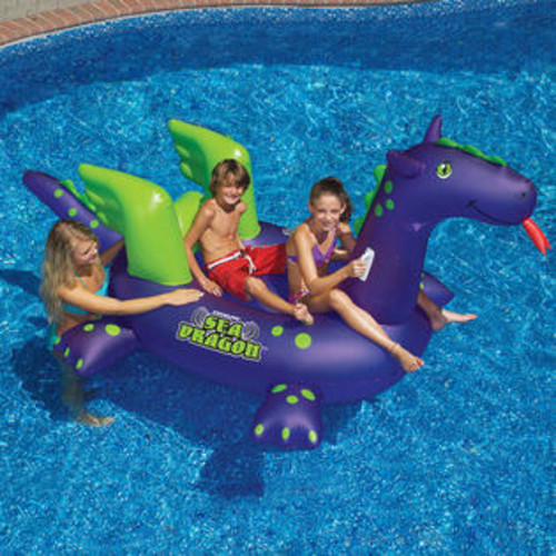 Swimline Giant Sea Dragon 9ft Inflatable Ride-On Pool Toy