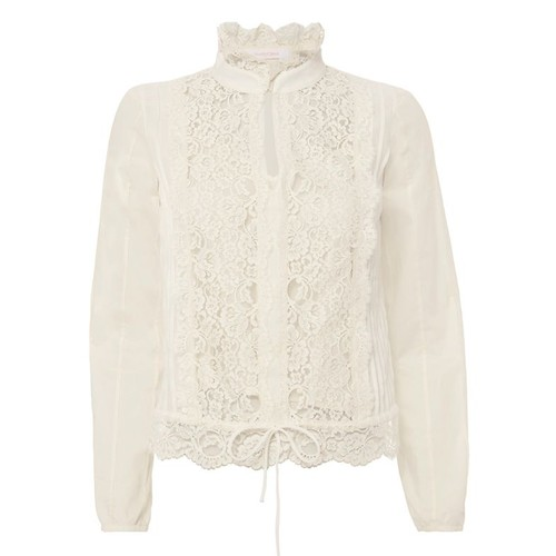 SEE BY CHLOÉ Lace Panel Victorian Blouse