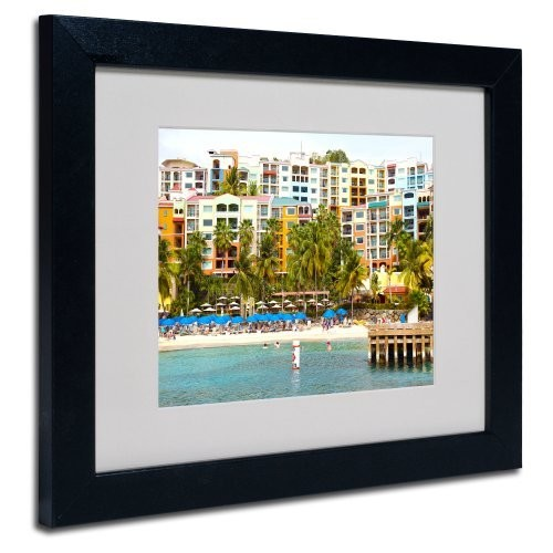 Virgin Islands 8 Canvas Wall Art by CATeyes, Black Frame, 11 by 14-Inch [11 by 14-Inch]