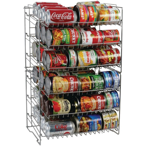 Atlantic Double Canrack - Can Food Kitchen Organizer - Silver [Silver, Double, Double Canrack]