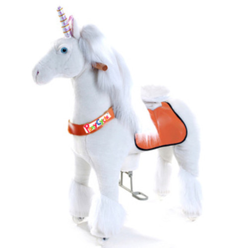 Vroom Rider PonyCycle Ride-on Galloping Unicorn [option : Small: 3-5 Years