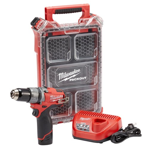 Milwaukee M12 FUEL 12-Volt Cordless Brushless 1/2 in. Hammer Drill Kit With Free PACKOUT Case