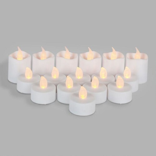 Flameless LED Tealight and Votive Candles Set of 16
