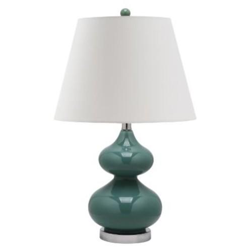 Safavieh Eva Marine Blue Double Gourd Glass Table Lamp