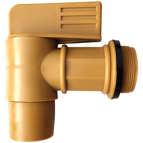 Lumax 3/4 Male Barrel Faucet with 2 Male Drum Adaptor