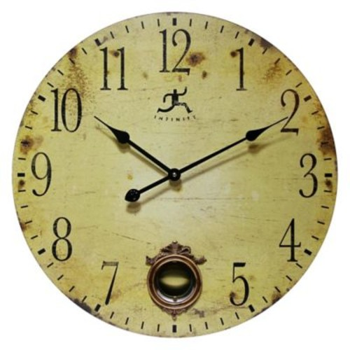 Infinity Instruments 24-Inch Cottage Grove Wall Clock in Antique Brown