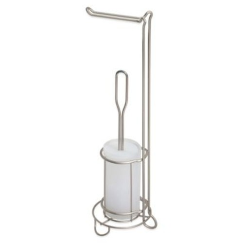 Classico Toilet Paper Stand/Bowl Brush in Satin White