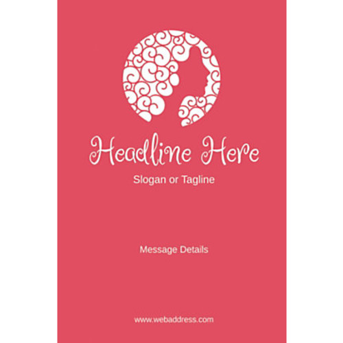 Adhesive Sign, Pink Beauty, Vertical