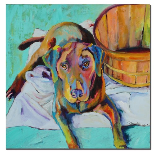 Basket Retriver by Pat Saunders-White, 18x24-Inch Canvas Wall Art [18x24-Inch]